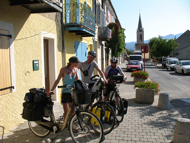 Biking the Green route to the Mediterranean Sea