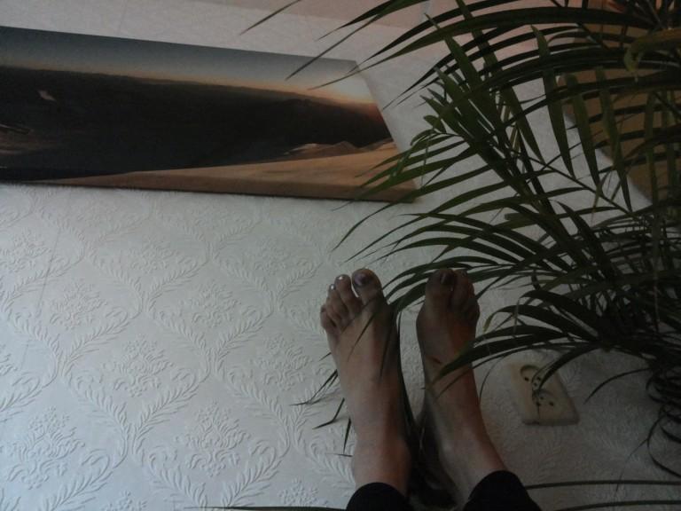Liggen met je voeten omhoog als cooling down