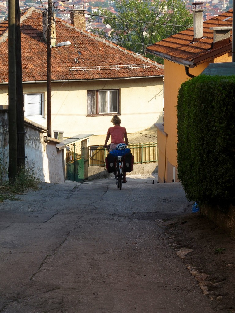 Leaving Sarajevo on the bike