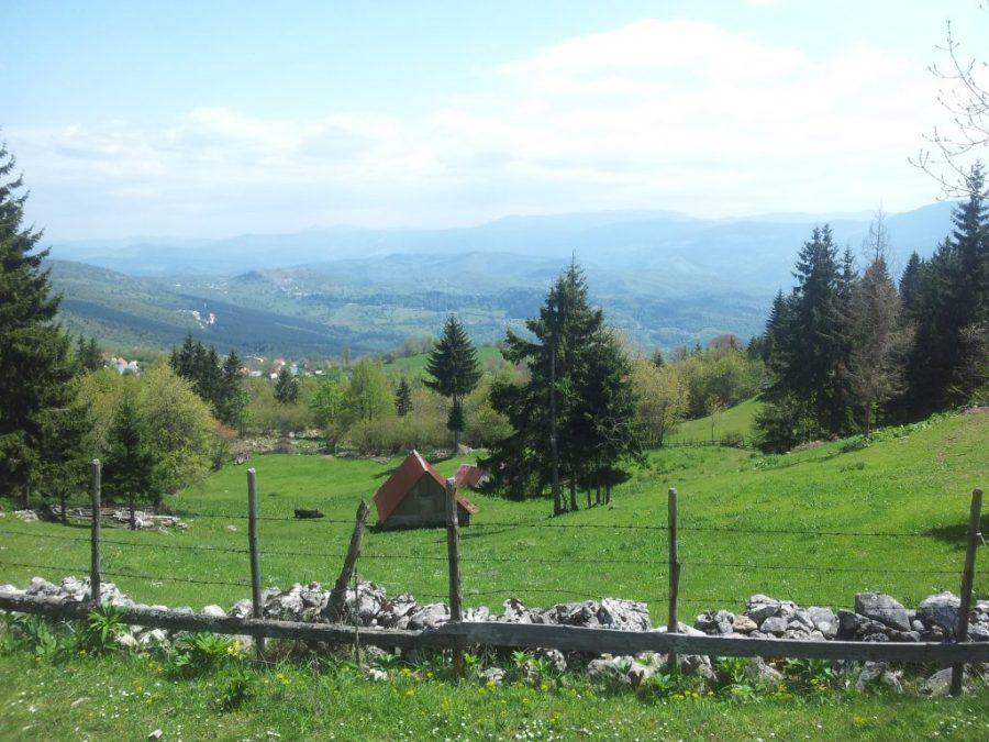 Fairytail landscape when hiking from Sarajevo to Vukov Konak