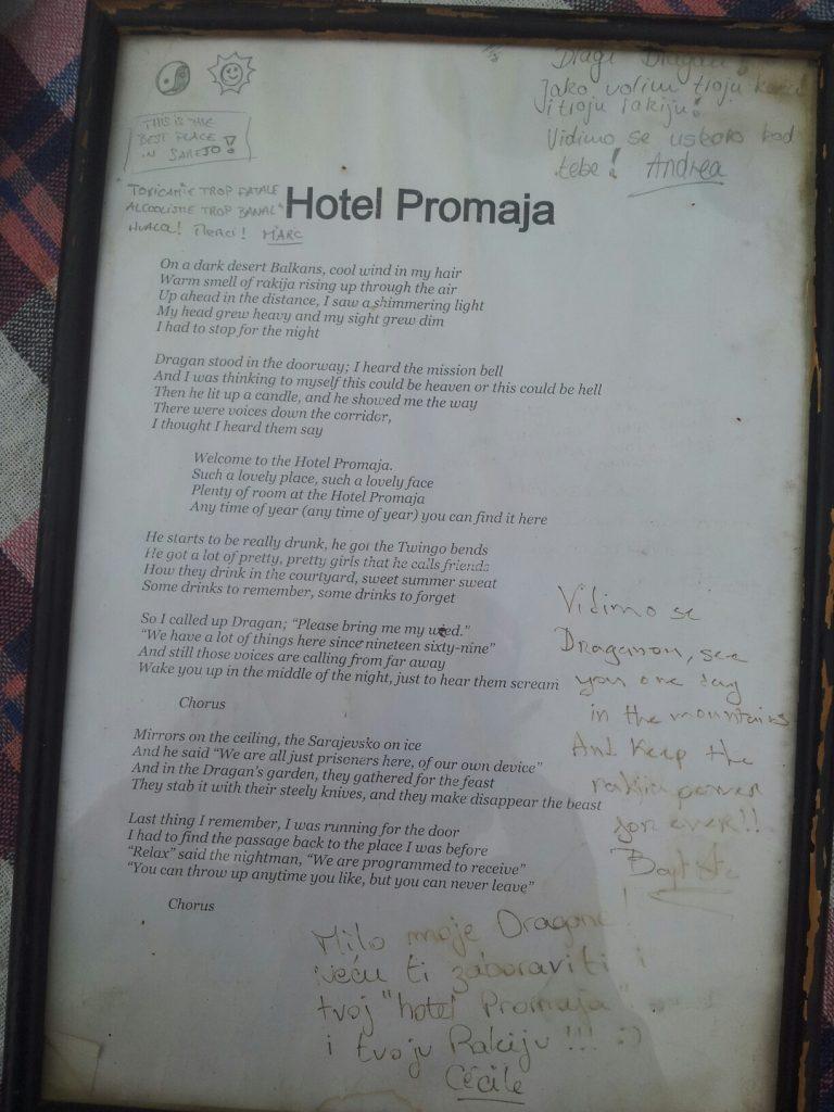 Gedicht Hotel Promaja