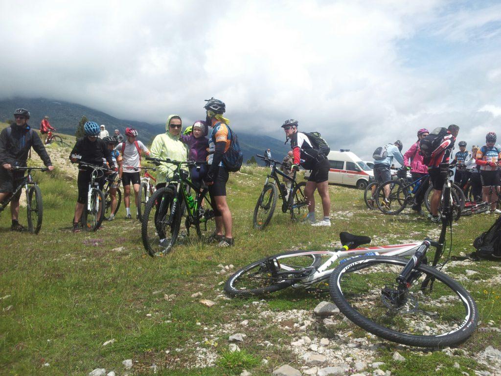 Mountainbikers in Blidinje
