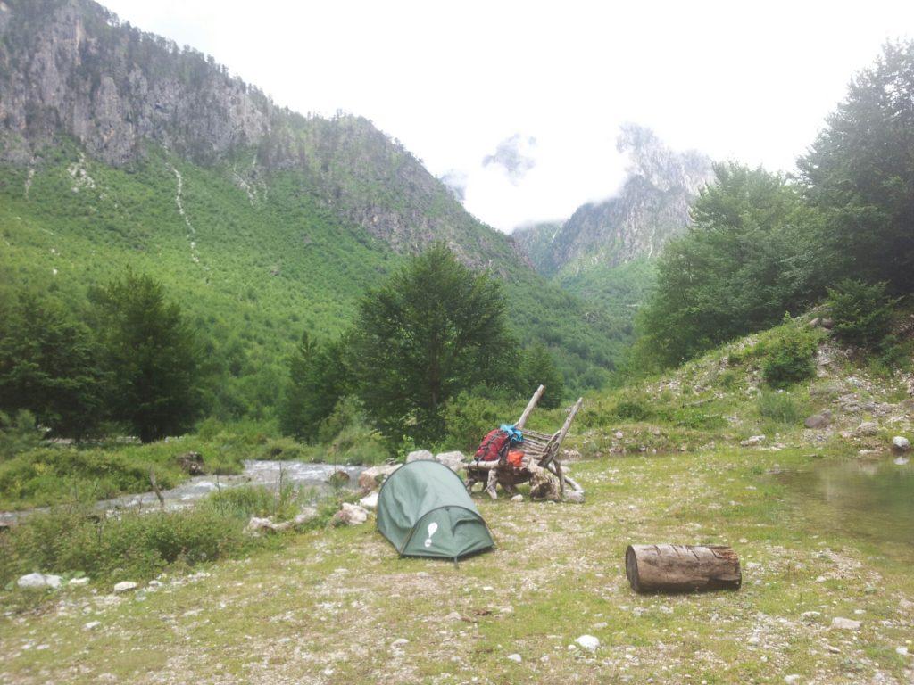 Valbona camping, Albania