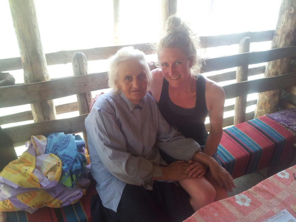 Mikša's mother in Katun Štavna, Montenegro | People on the Via Dinarica