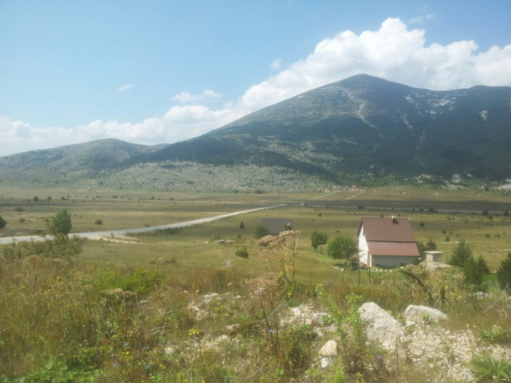 Blidinje Valley with Vran Mountain and some summer clouds