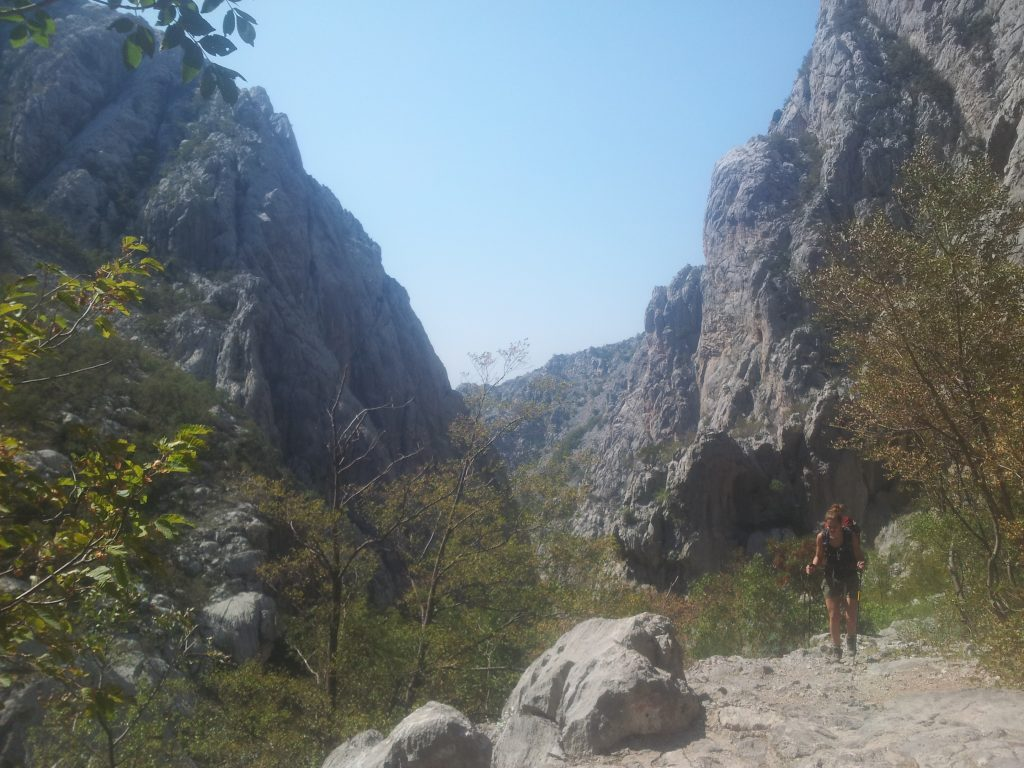 The way back through Velika Paklenica