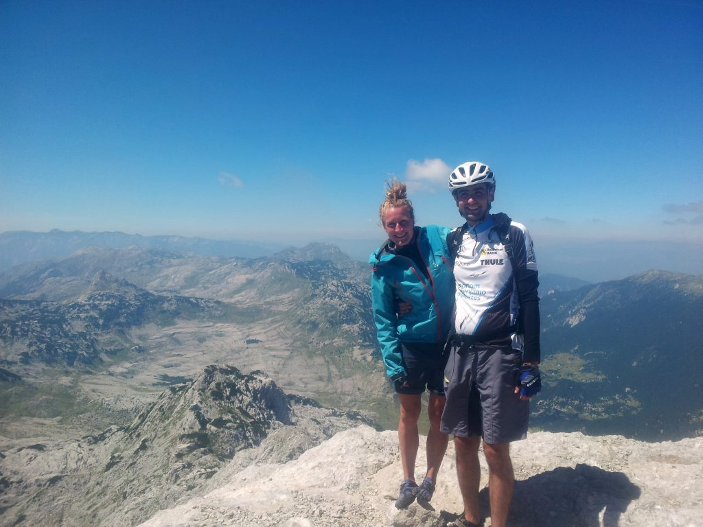 Meeting Đani the mountainbiker from Mostar on the top of Zelena Glava
