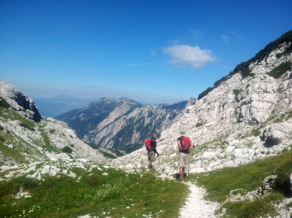 A day-hike with two boys from Tuzla