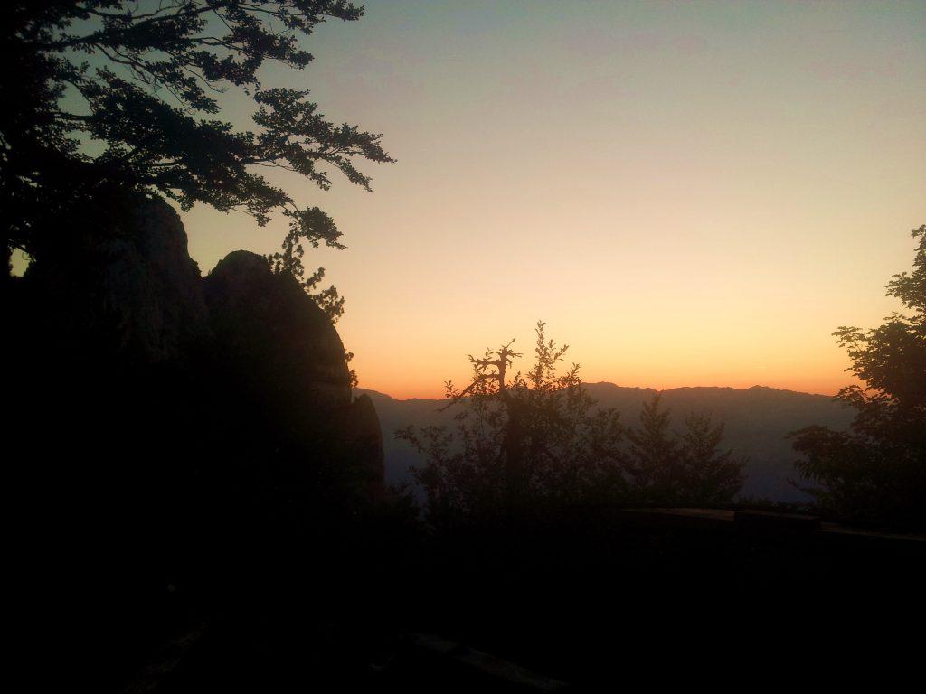 Sunset at Milanova Koliba, bye Prenj