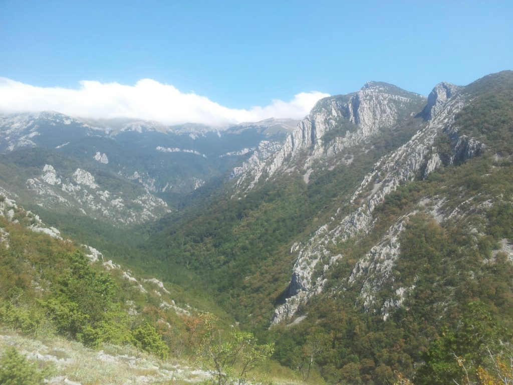 On the way up to Ivine Vodice, Paklenica
