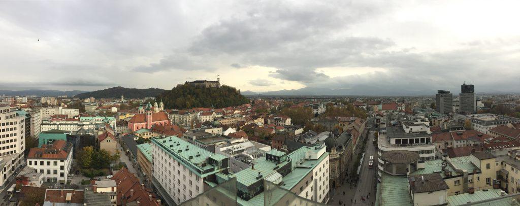 View from Nebotičnik, Ljubljana's skyscraper