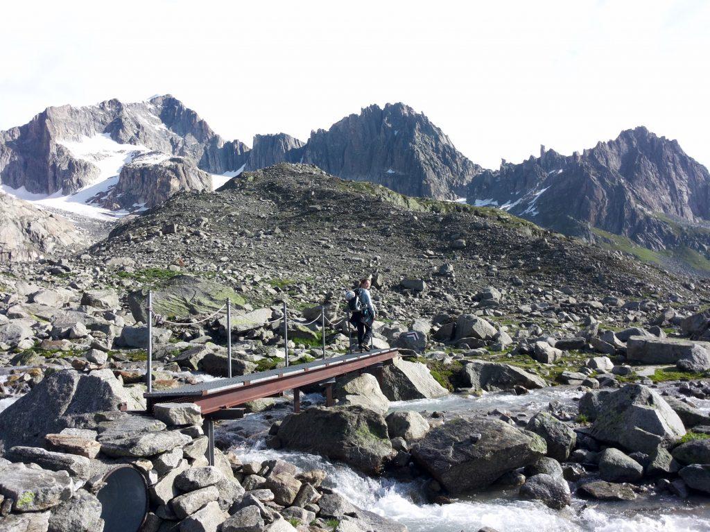 Graatje klimmen op de Furkapas