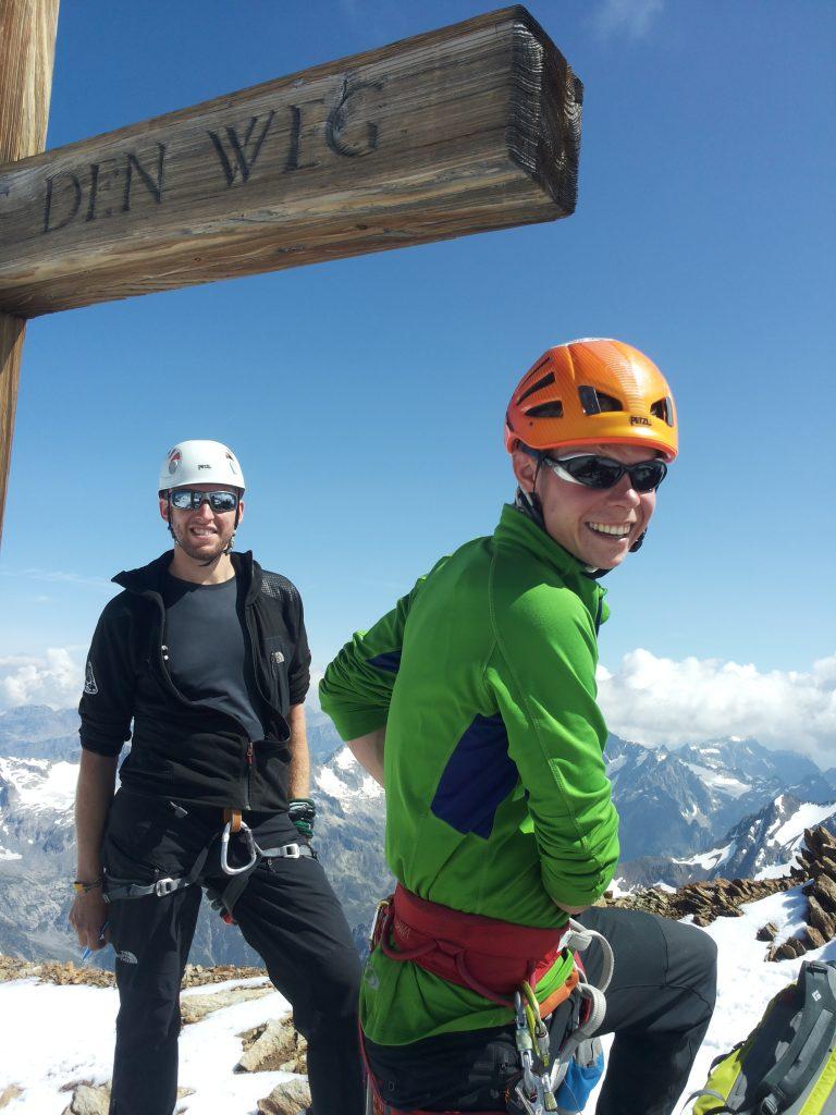 climbing Sustenhorn