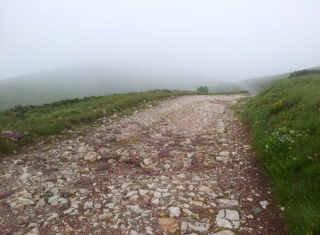 Makadam road in Bjelasica, Mountains of Montenegro