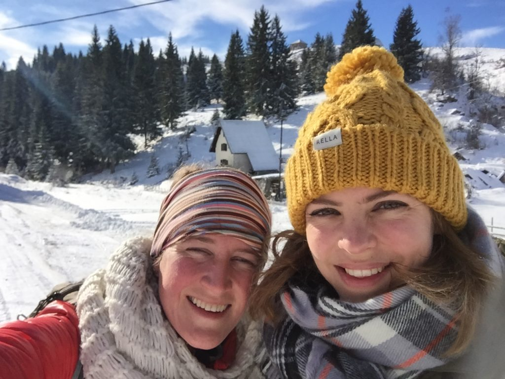 Sarajevo city escape | Sun & Snow, wrapped in scarfs Selfie :)