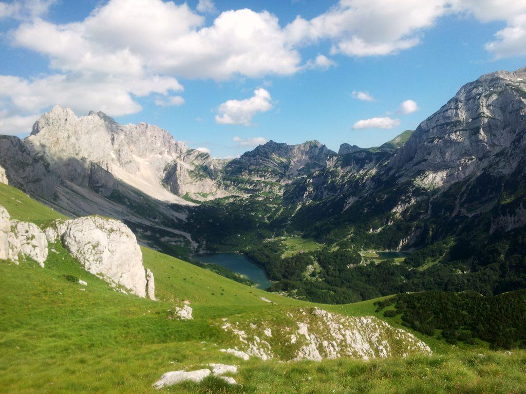 Hiking Via Dinarica White Trail through the Mountains of Montenegro, Škrčko jezero
