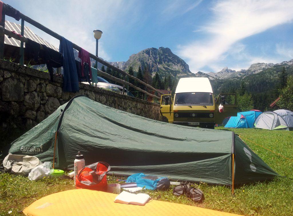 Hiking Via Dinarica White Trail through the Mountains of Montenegro, Kamp Ivan Do, Žabljak