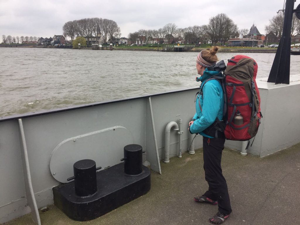 Crossing a river   Pilgrim's trail The Netherlands