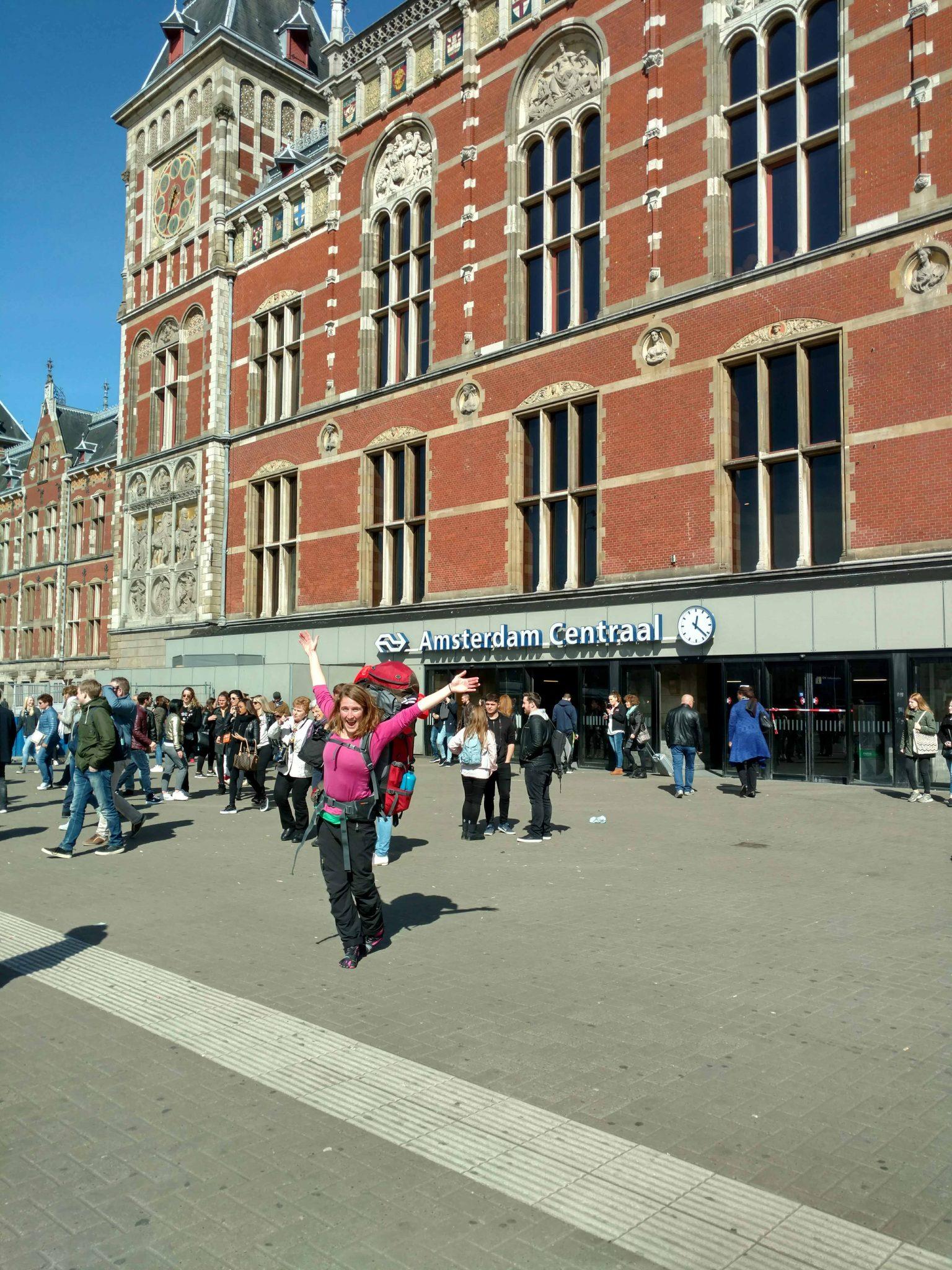Centraal station Amsterdam, fris aan de start