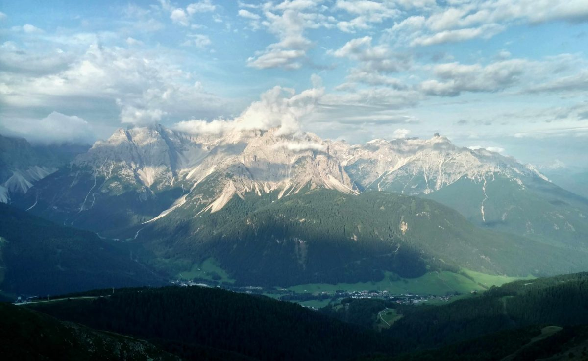De Dolomieten, uitzicht vanaf de Sillianer Hütte
