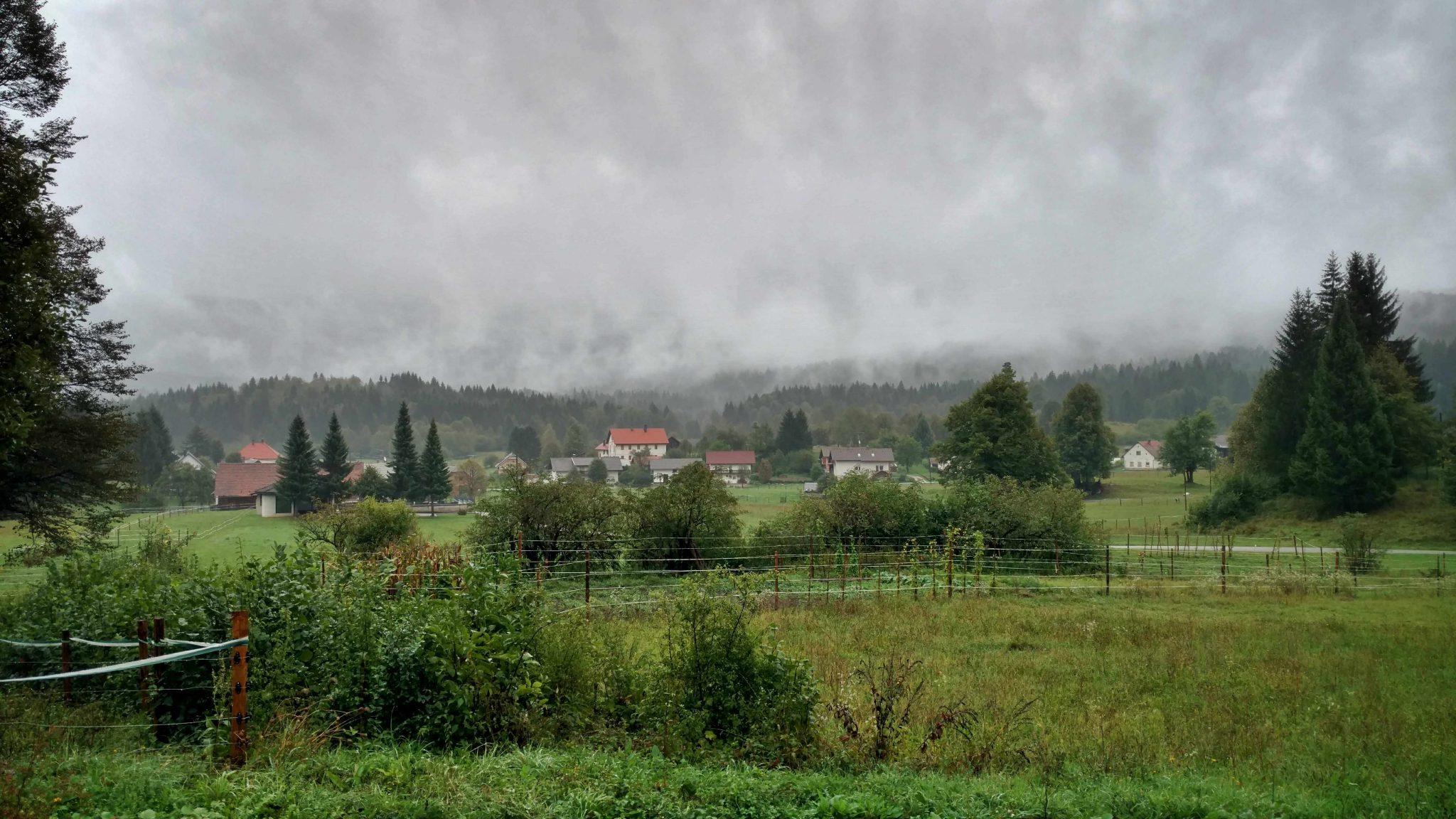 Regenkleding weer in Slovenië