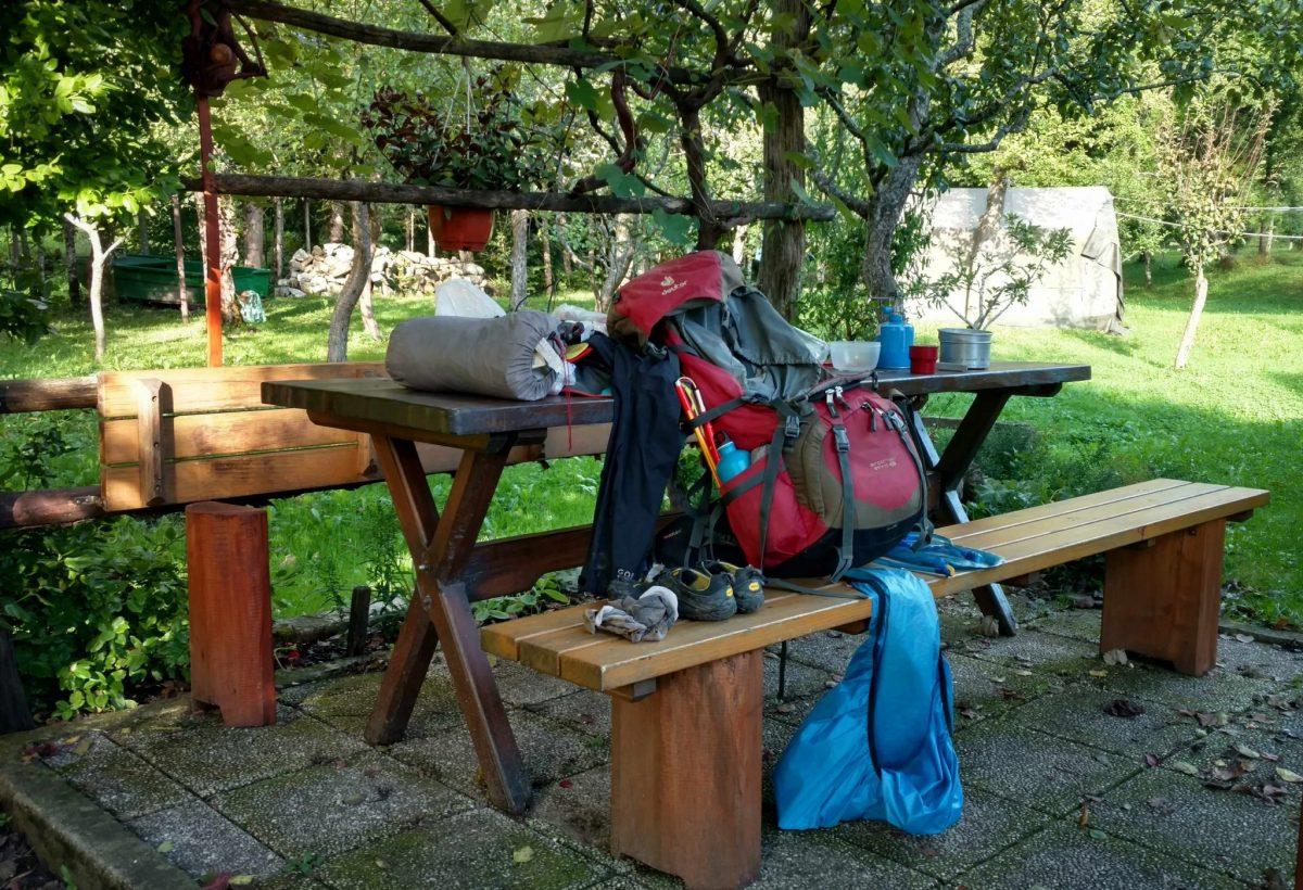Gezellig in een tuin kamperen