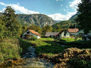 Watervallen bij Martin Brod, Bosnië en Herzegovina