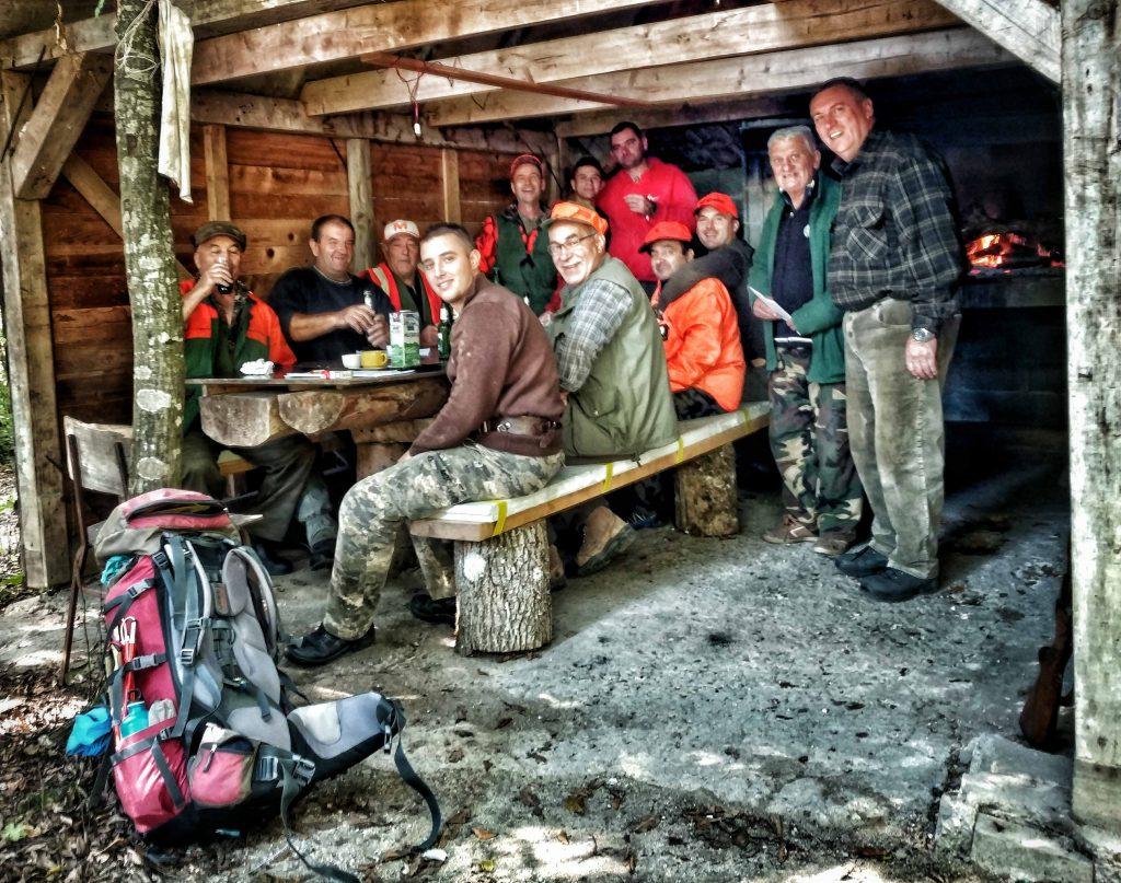 Eten met de jagers in Bosnië en Herzegovina