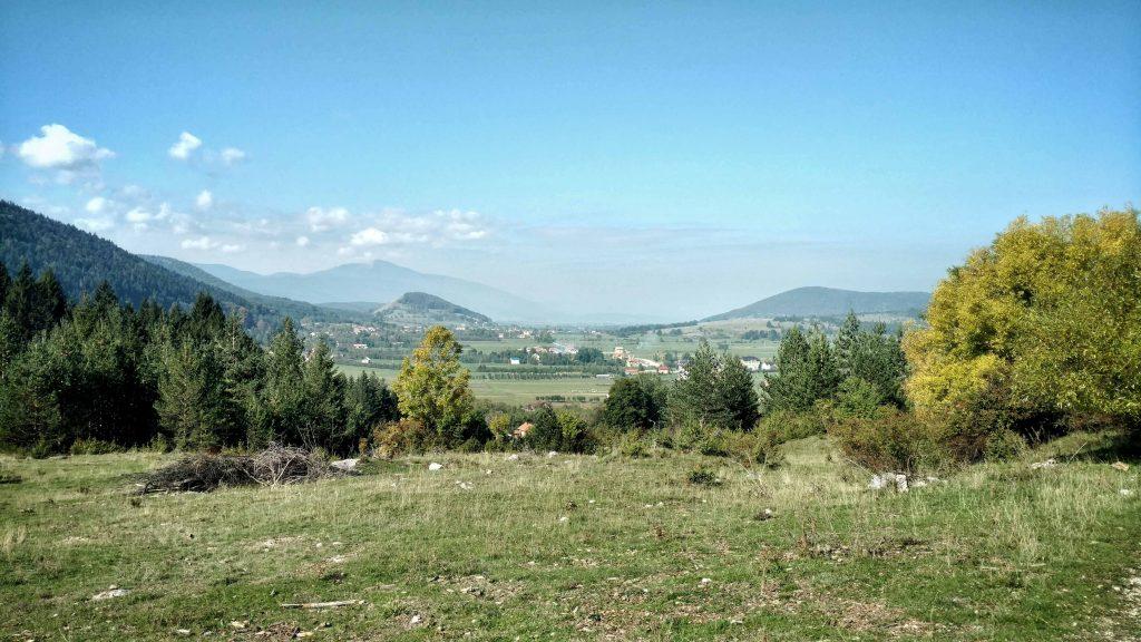 Uitzicht op Drinić met wat troep