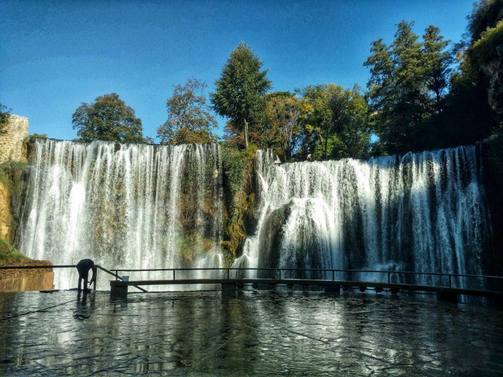 De waterval van Jajce