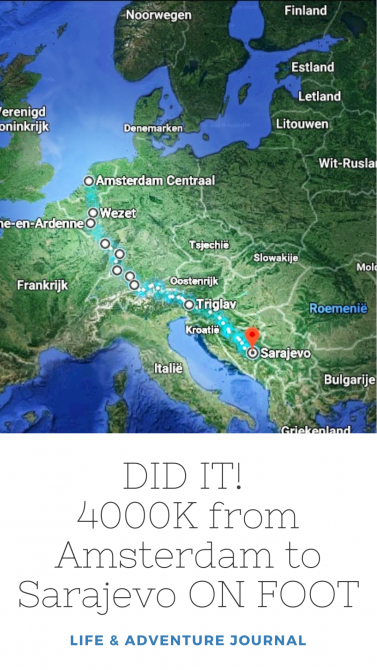 Did It From Amsterdam To Sarajevo On Foot Evadinarica Project
