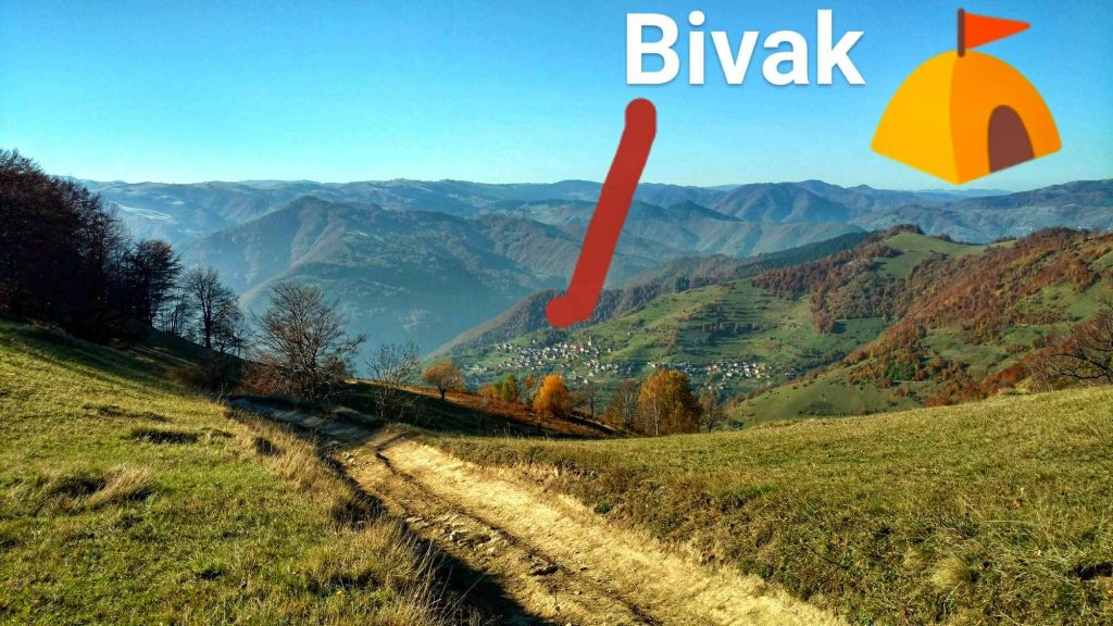Gladovići bivak in de heuvels in Bosnië en Herzegovina