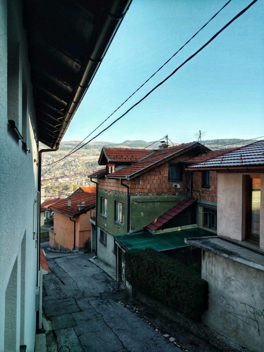 Sarajevo Bistrik   Laatste meters van de laatste wandeldag naar Sarajevo