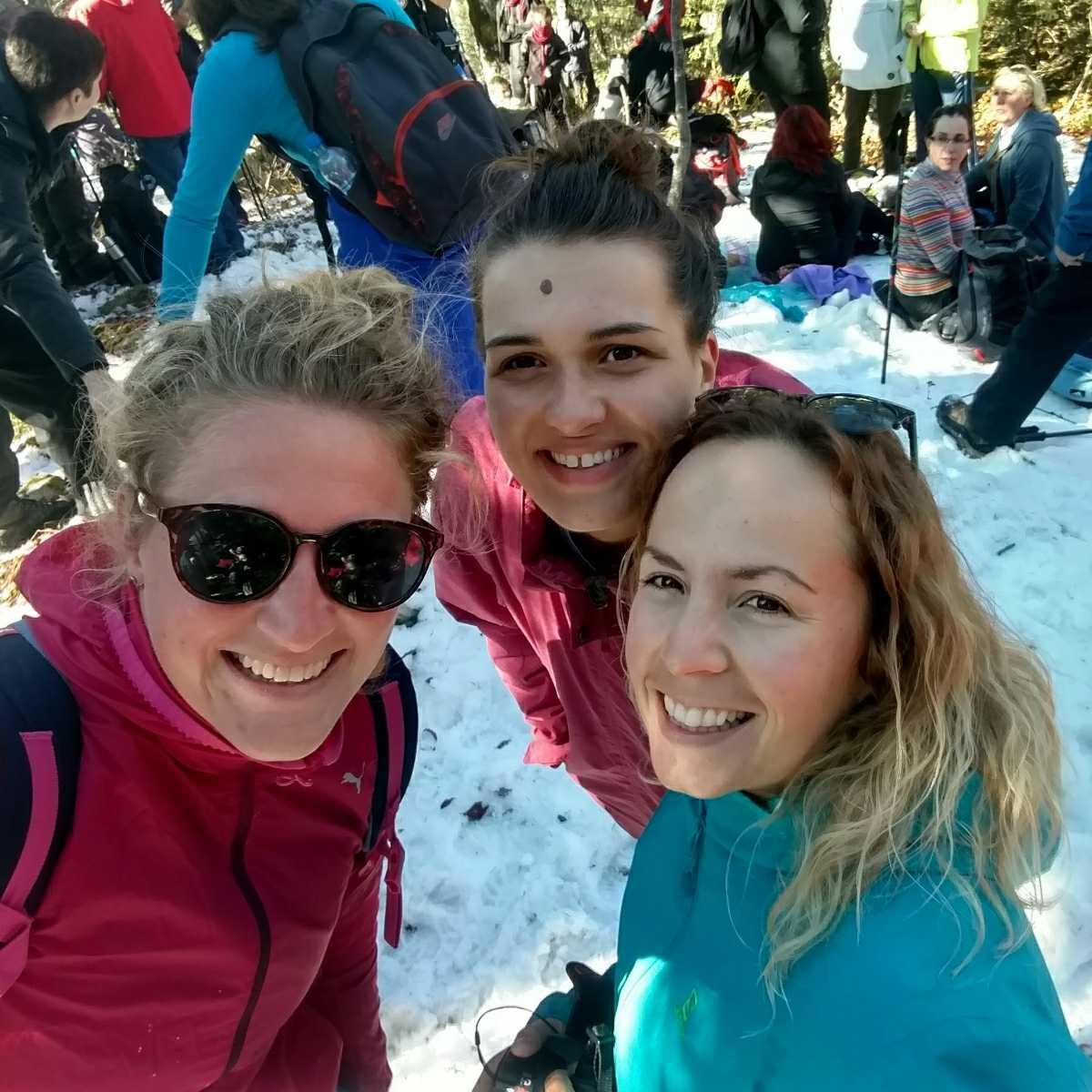 Looking back on November: Selfie on Igman with Džana and Sabina