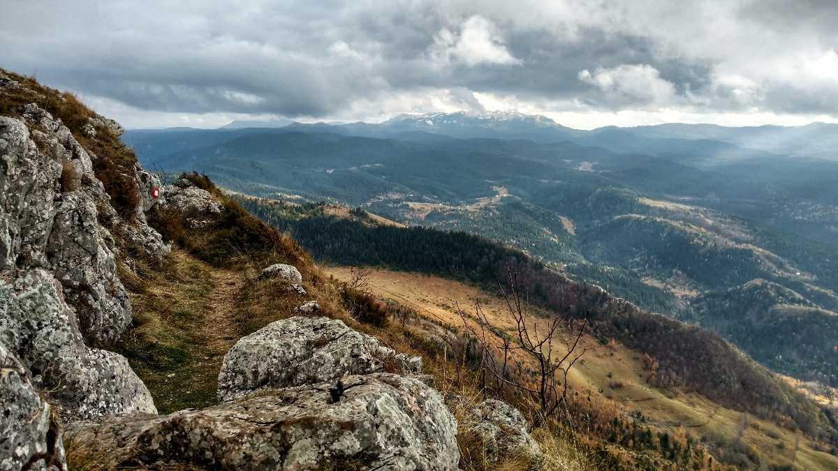 Hikingview from Trebević Vrh, looking at Jahorina planina