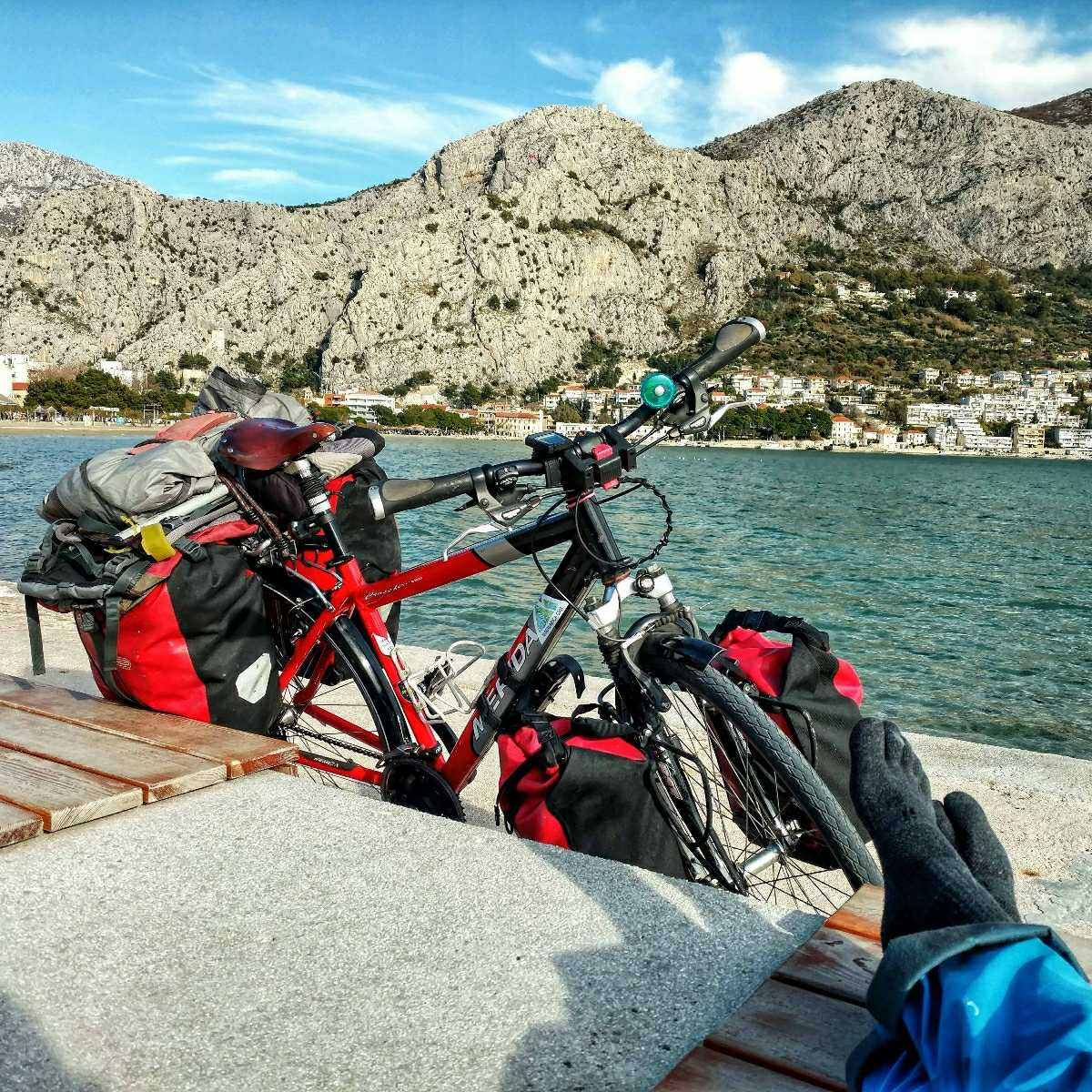 Looking back on November, biking the Croatian coast - Omiš