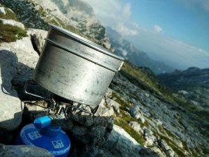 wandelen en koffie zetten in de bergen | Dolomiten, Italië