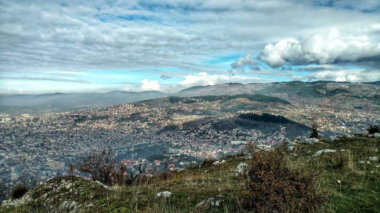 Looking back on November: Hiking Trebević, Sarajevo cityview