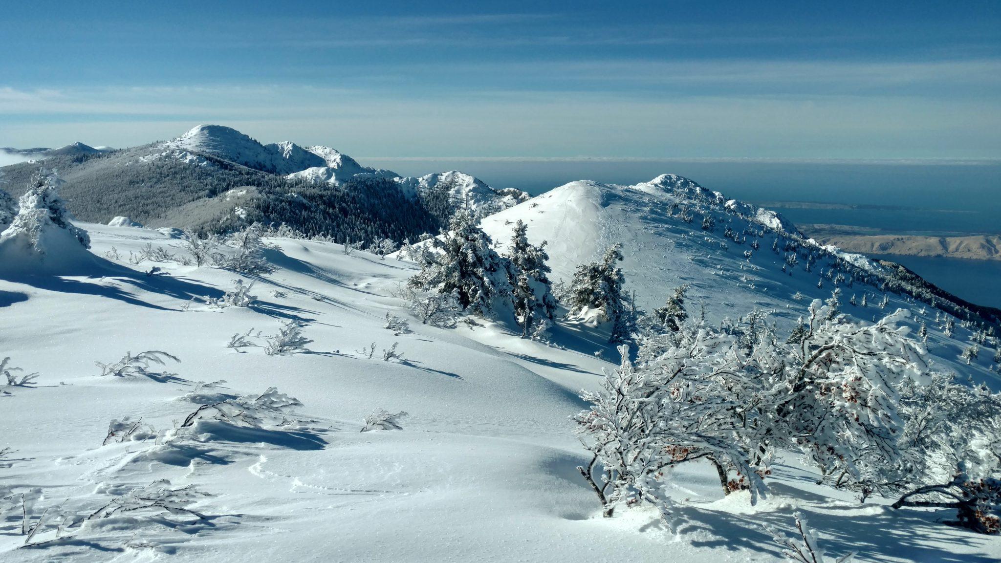 Velebit in de Winter | Sneeuwschoenwandeln met zicht op zee