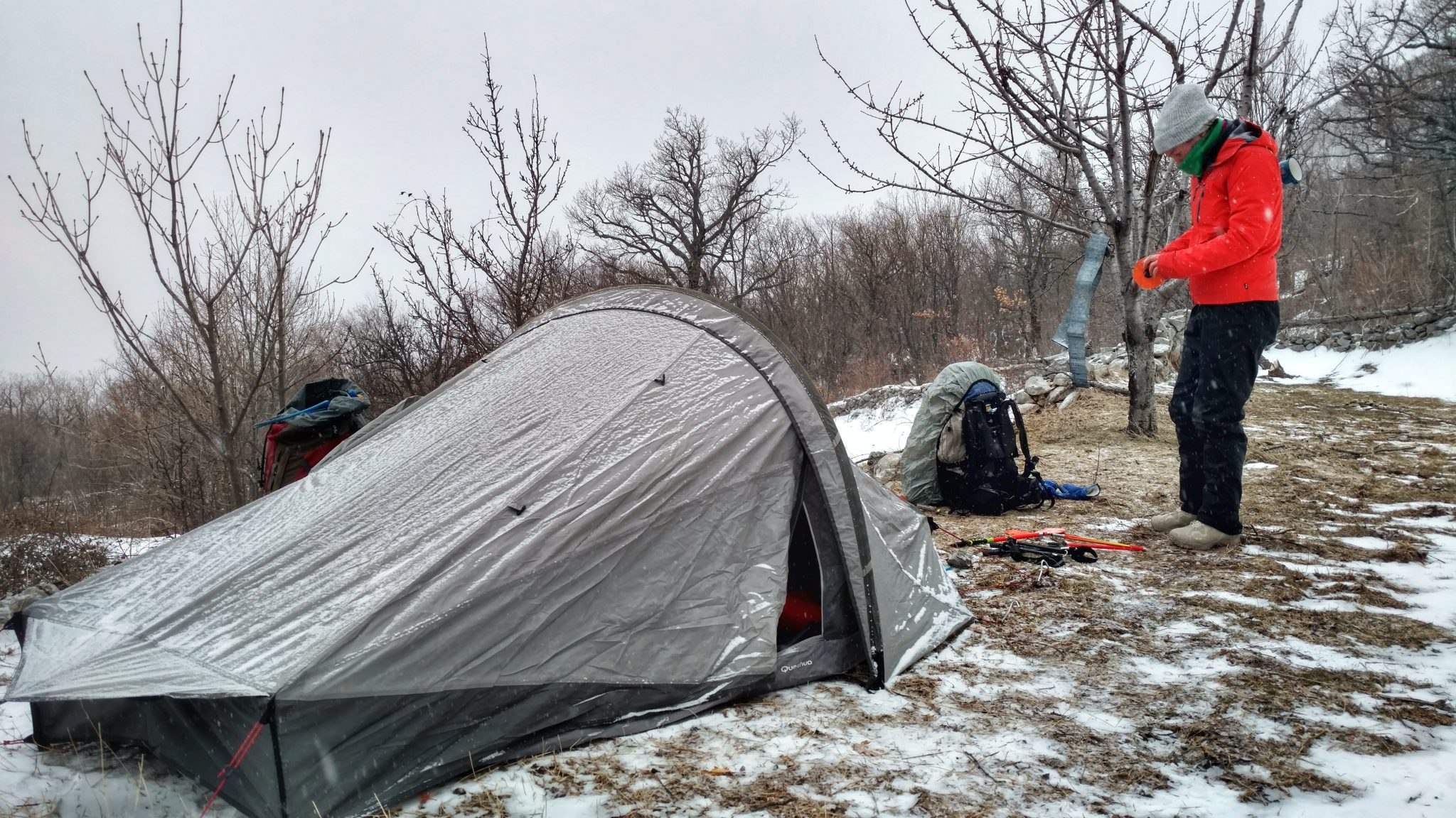 Velebit Winter Hike Day 2 | B(rrrr)eautiful bivouac