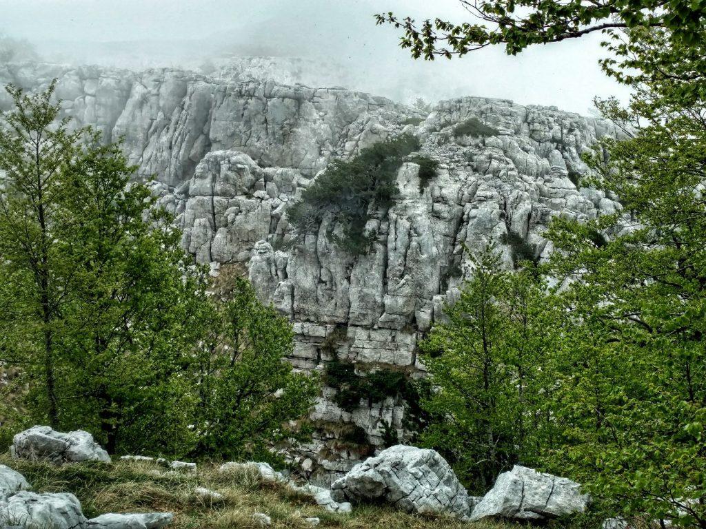 PUT OLUJE trail to Martinova Košara