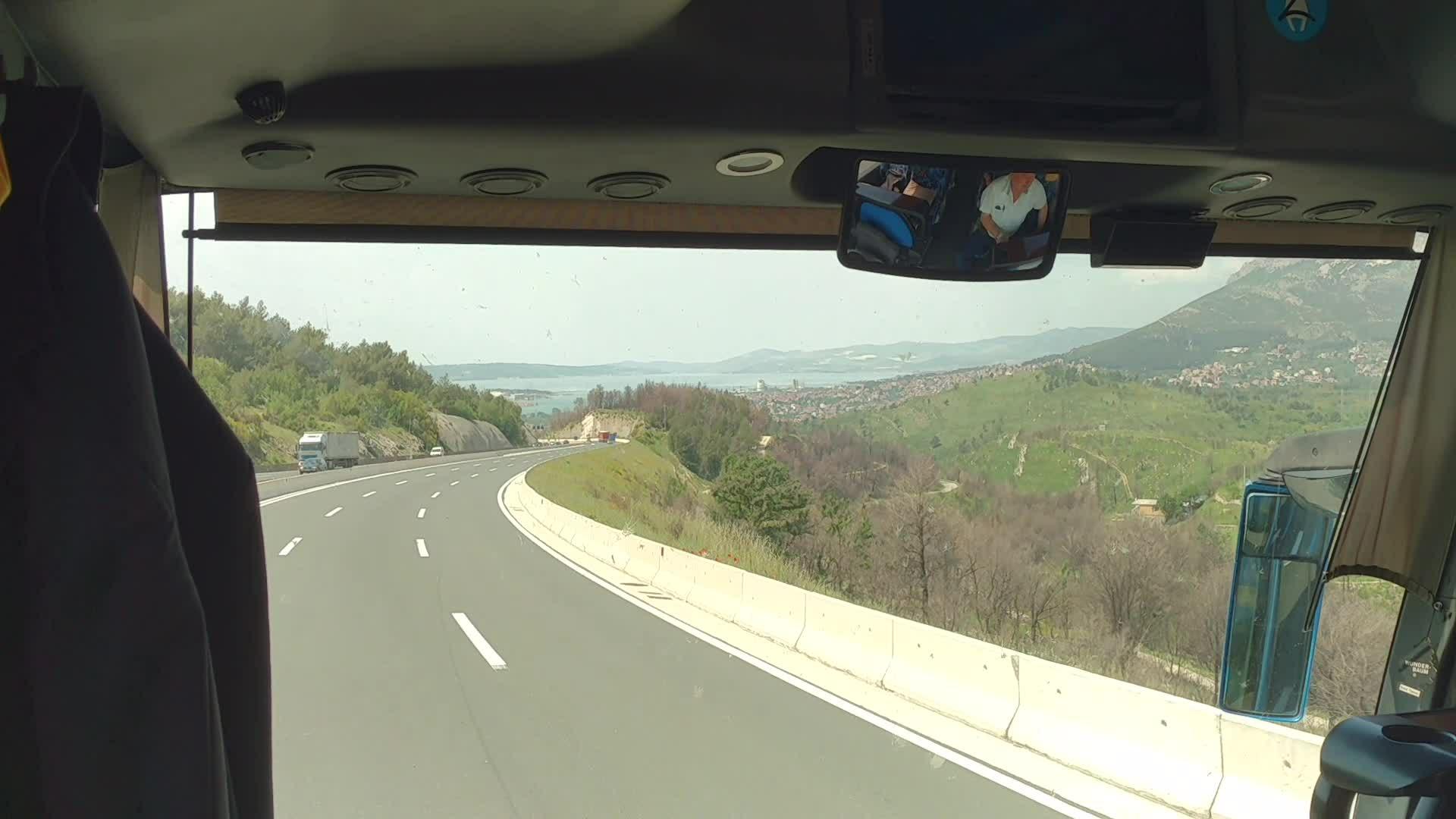 Bus ride Zagreb to Knin   Scenic route