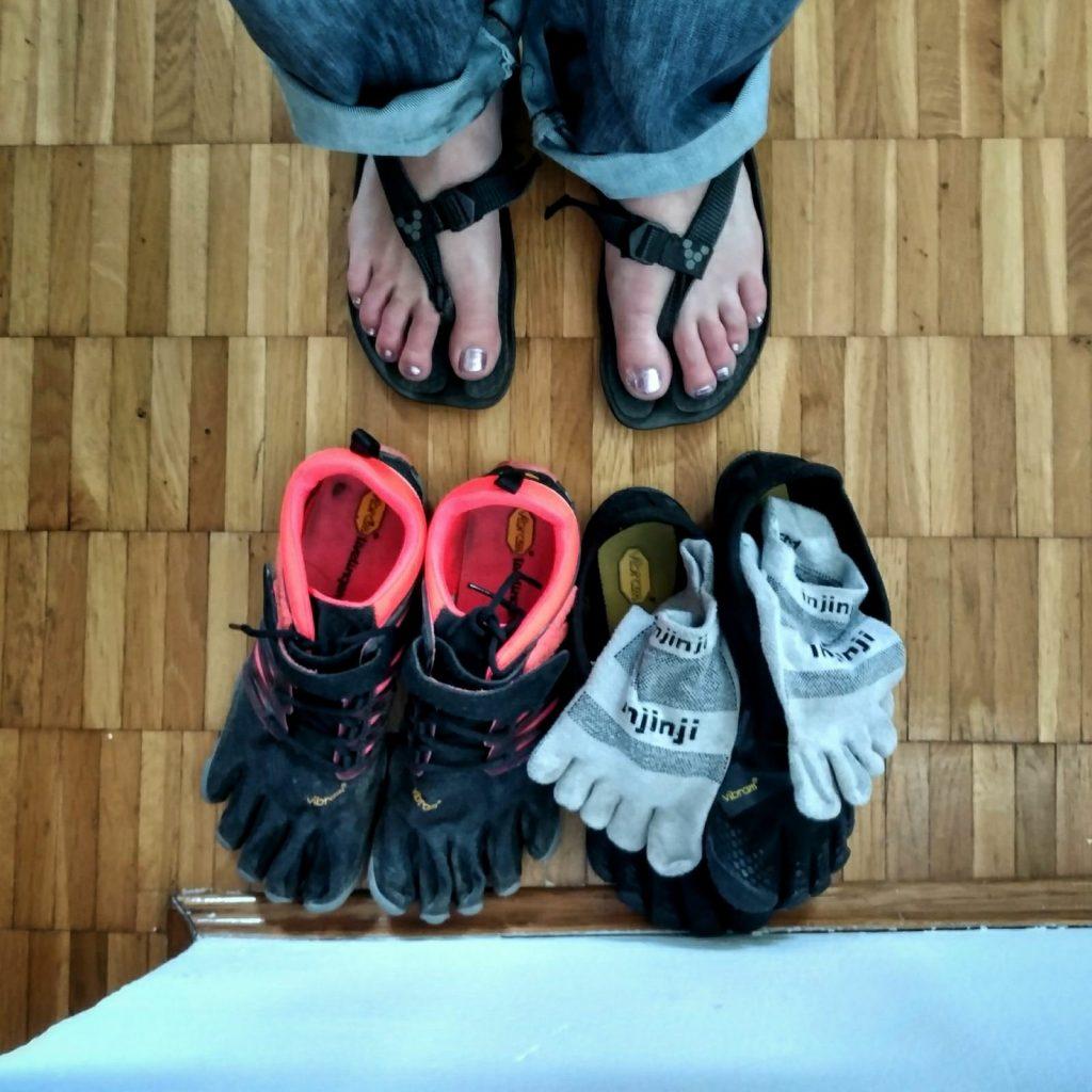Nieuwe FiveFingers en sandalen