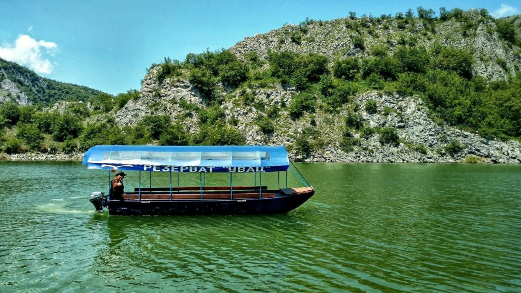 Reservat Uvac toeristenboot
