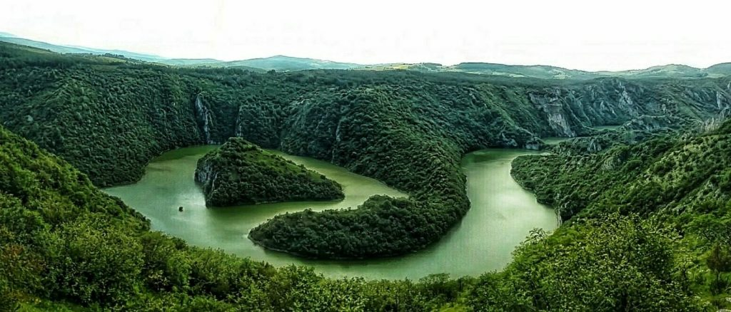 De Uvac rivier