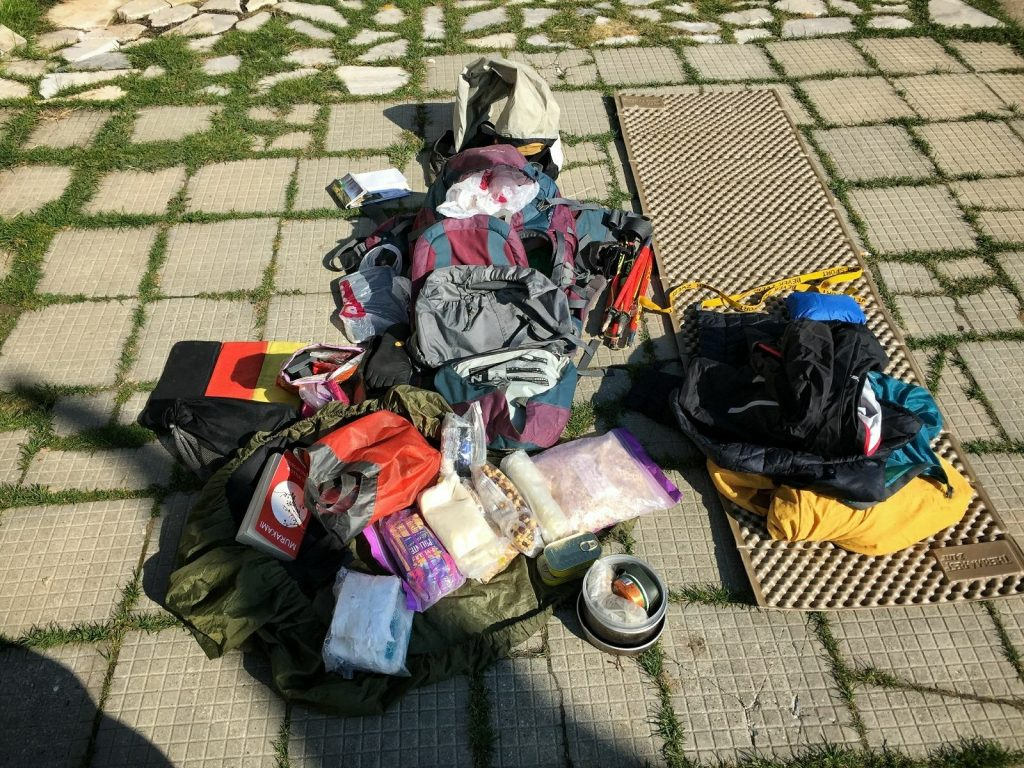 My camping & hiking gear