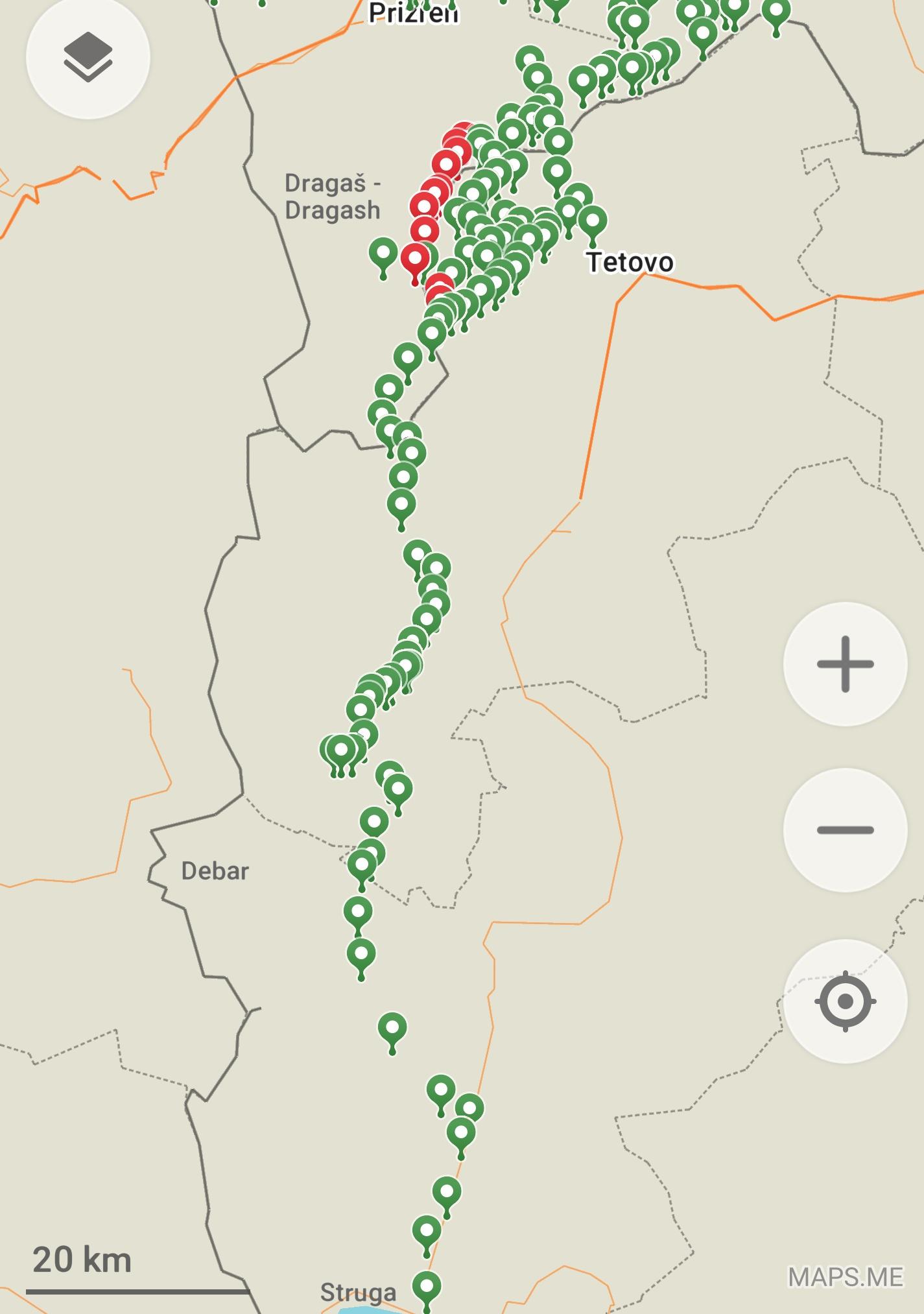 Map of my Macedonian Traverse