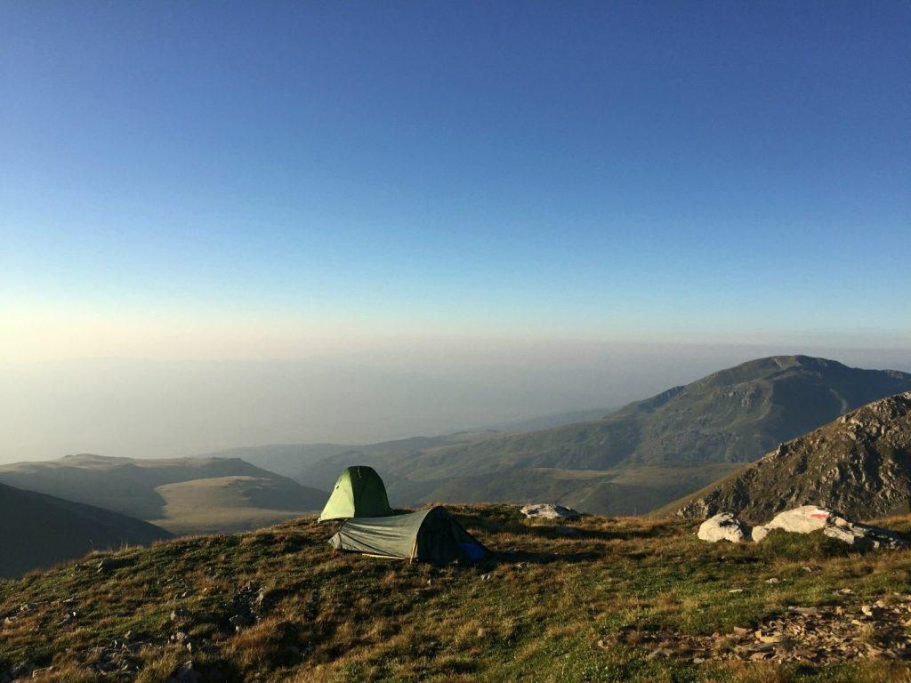 First camp, Titov Vrv - Shar Mountain