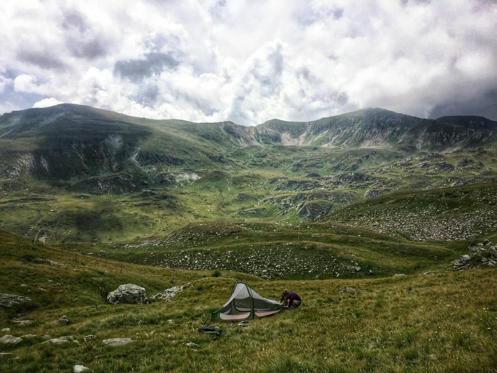 Emergency camp, Shar Mountain