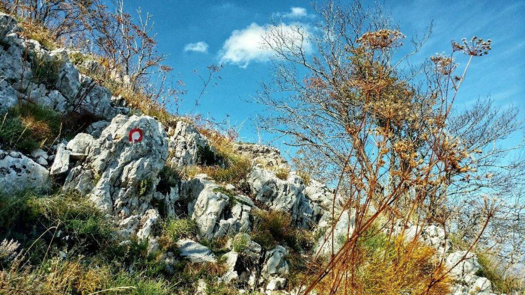 Wandelroute omhoog naar Rumija, karstgebergte Montenegro